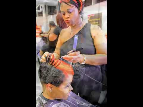 Fantasia Inspired Short Haircut Black Women Short Hairstyles Black Hair Salon Houston Pearland Youtube