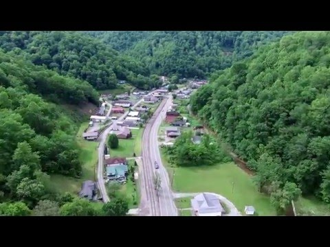 North Matewan West Virginia Aerial Video from Phantom Drone in 4K