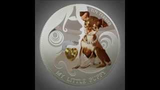 """Silver Coin My Little Puppy - Yorkshire Terrier 2013 """"dogs And Cats"""" Series Fiji - 1 Oz"""
