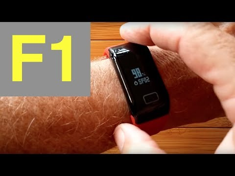 F1 Blood Pressure Reading Smart Bracelet: Unboxing and Revie