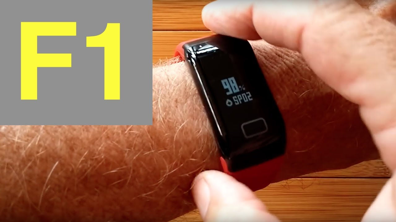 F1 Blood Pressure Reading Smart Bracelet Unboxing And Review Youtube