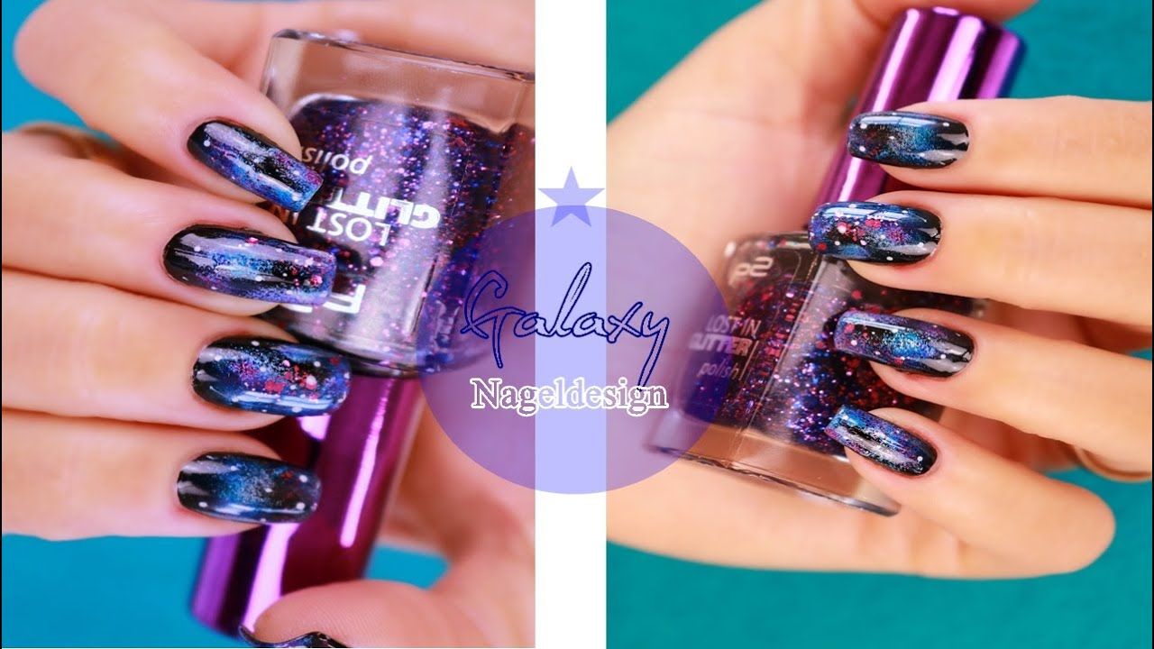 Einfaches Galaxy Nagel Design Selbermachen / Easy Galaxy Nails do it ...