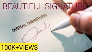 How to draw Signature powerful and beautiful like a billionaire (for Alphabet ,S, )