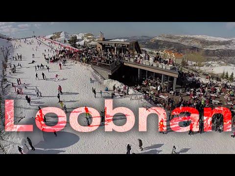 Loobnan: Fly Over Zaarour Ski Resort in Lebanon
