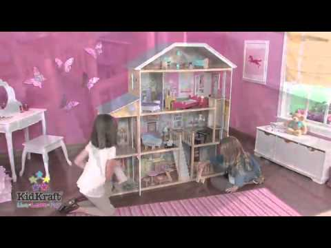 Kidkraft Majestic Mansion Dollhouse With Furniture Youtube