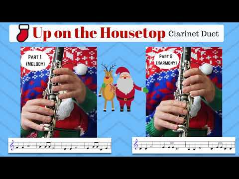 Clarinet DUET - Up On The Housetop (Free Sheet Music)