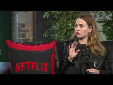 Britt Robertson  GIRLBOSS  NETFLIX  about snorting, laughing & fun on Film Set  best day