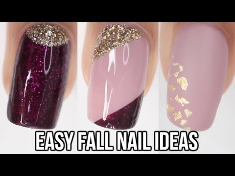 5 QUICK & EASY Fall Nail Ideas!