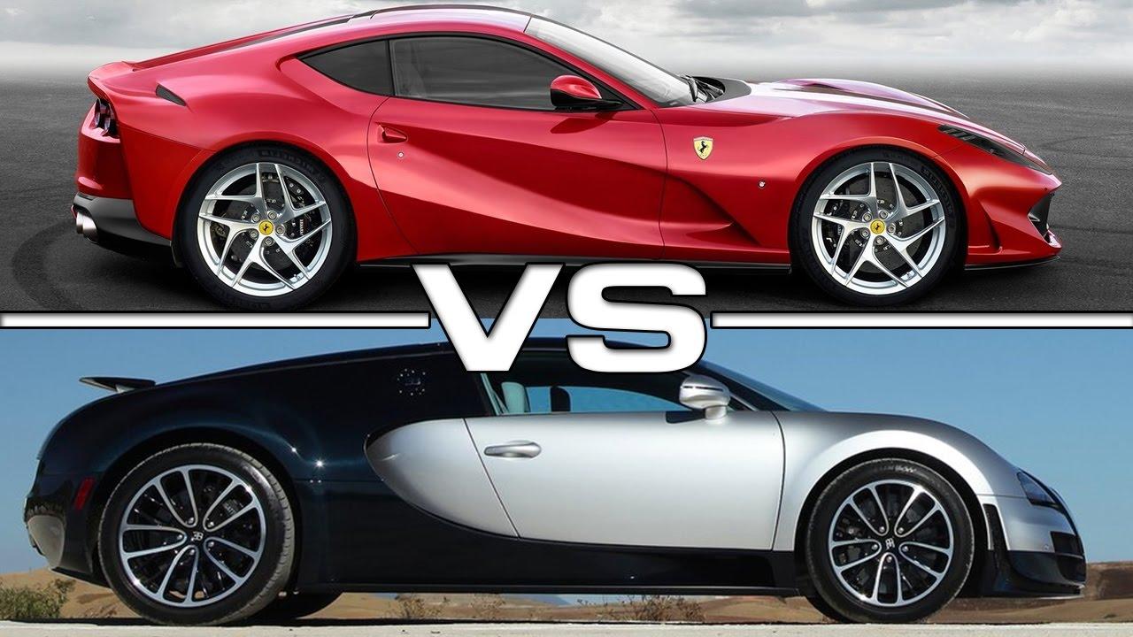 ferrari 812 superfast vs bugatti veyron super sport youtube. Black Bedroom Furniture Sets. Home Design Ideas