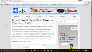 How to Install QuickTime Player on Windows 10 OS