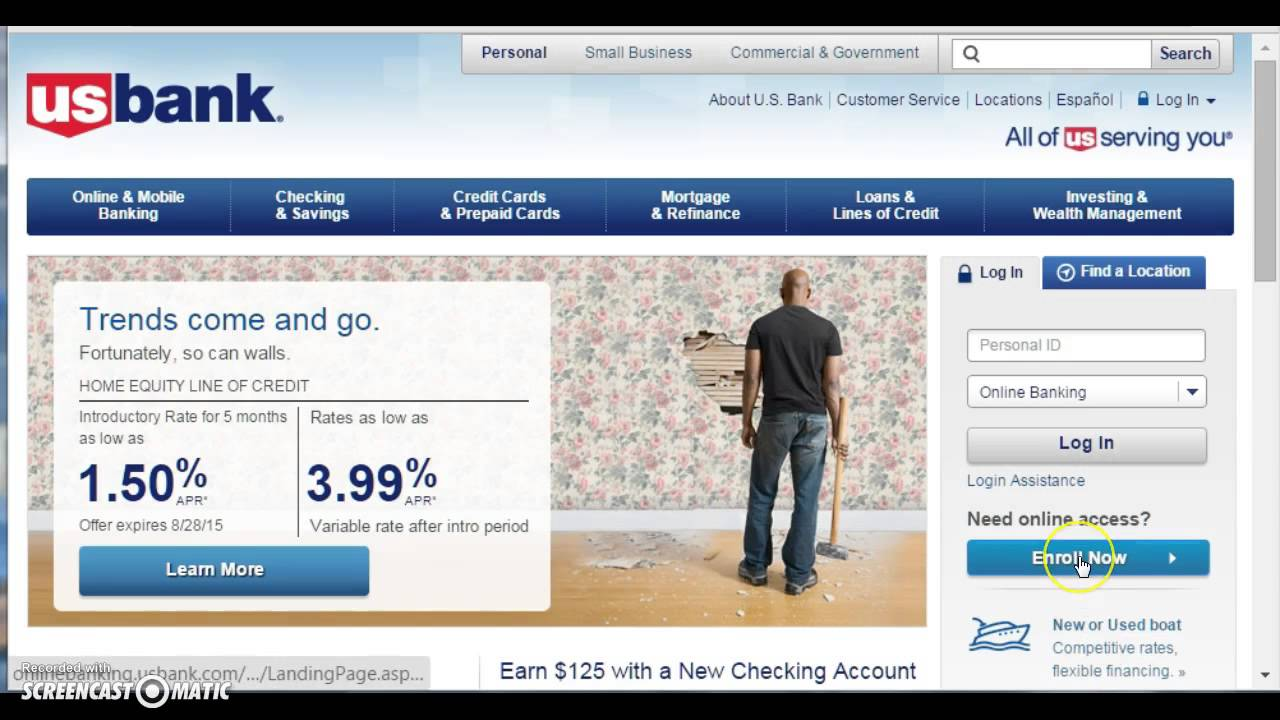 Usbanks Personal Online Banking