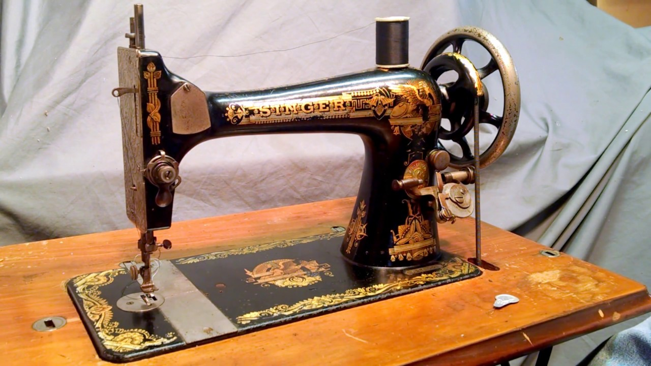 Serviced Antique 1910 Singer 27 Sphinx Treadle Sewing ...