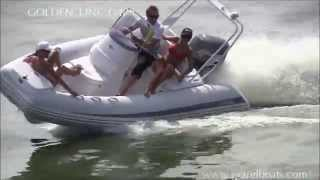 GRAND inflatable boat GOLDEN LINE G480LF - hot RIB cruiser for for luxury boating