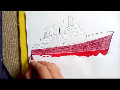 SHIP DRAWING AND COLORING ,KIDS ART AND PAINTING,COLORING PAGES FOR KIDS