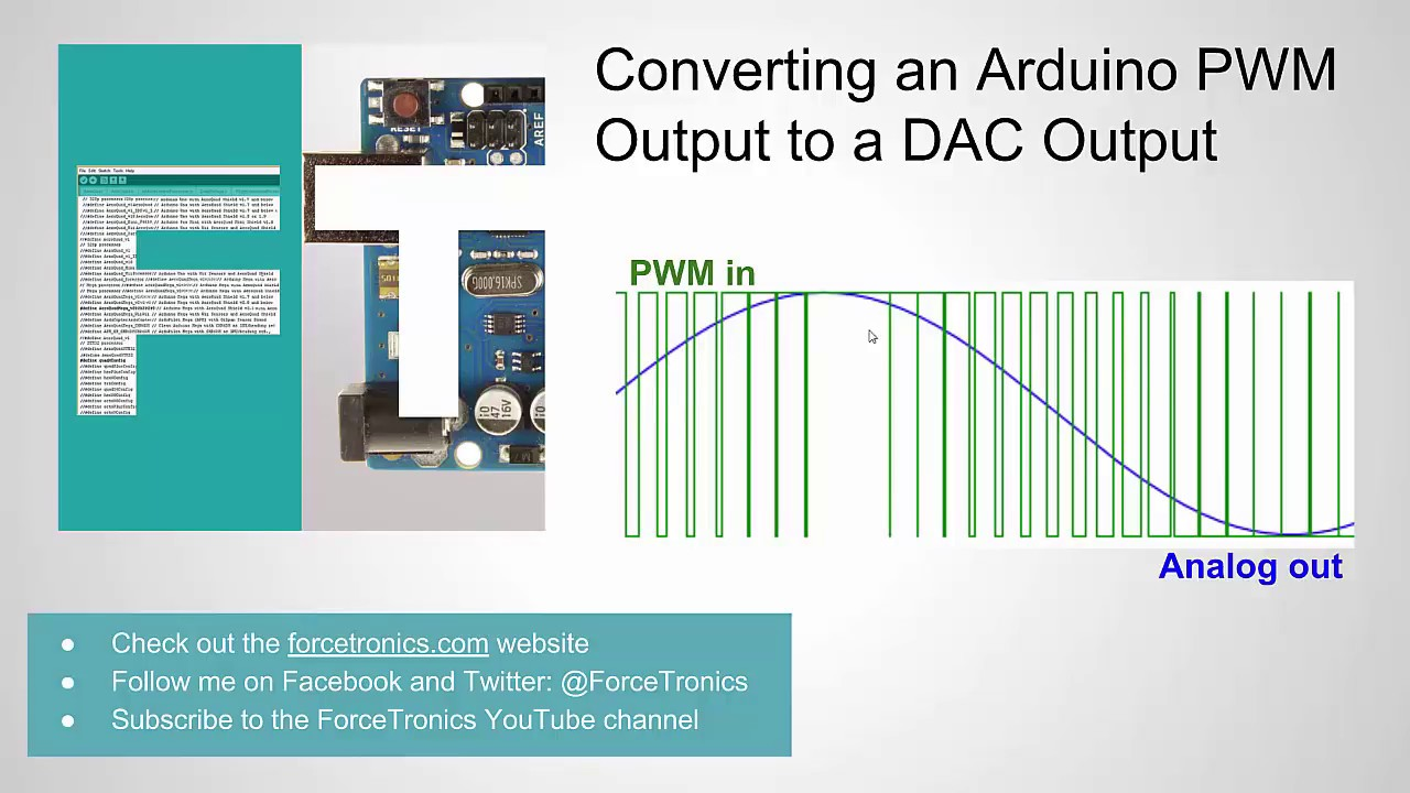 ForceTronics: Converting an Arduino PWM Output to a DAC Output