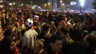Chile campeón copa América - Plaza Italia julio2015