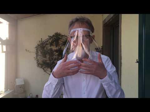 Ecran facial / visière anti-postillons et anti-COVID 19 : fabrique-le et sauve des vies