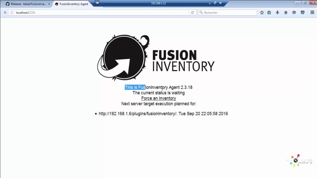 fusioninventory agent