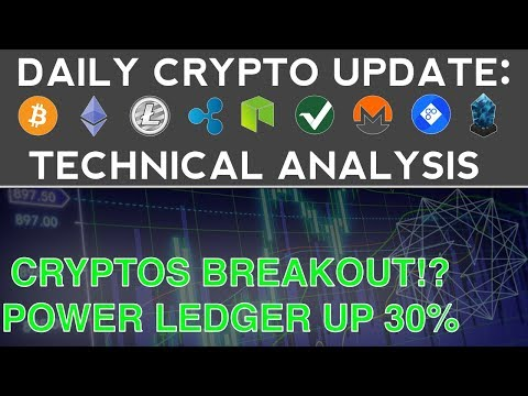 CRYPTOS BREAKOUT!? POWER LEDGER UP 30% (11/19/17) Daily Crypto Update + Technical Analysis