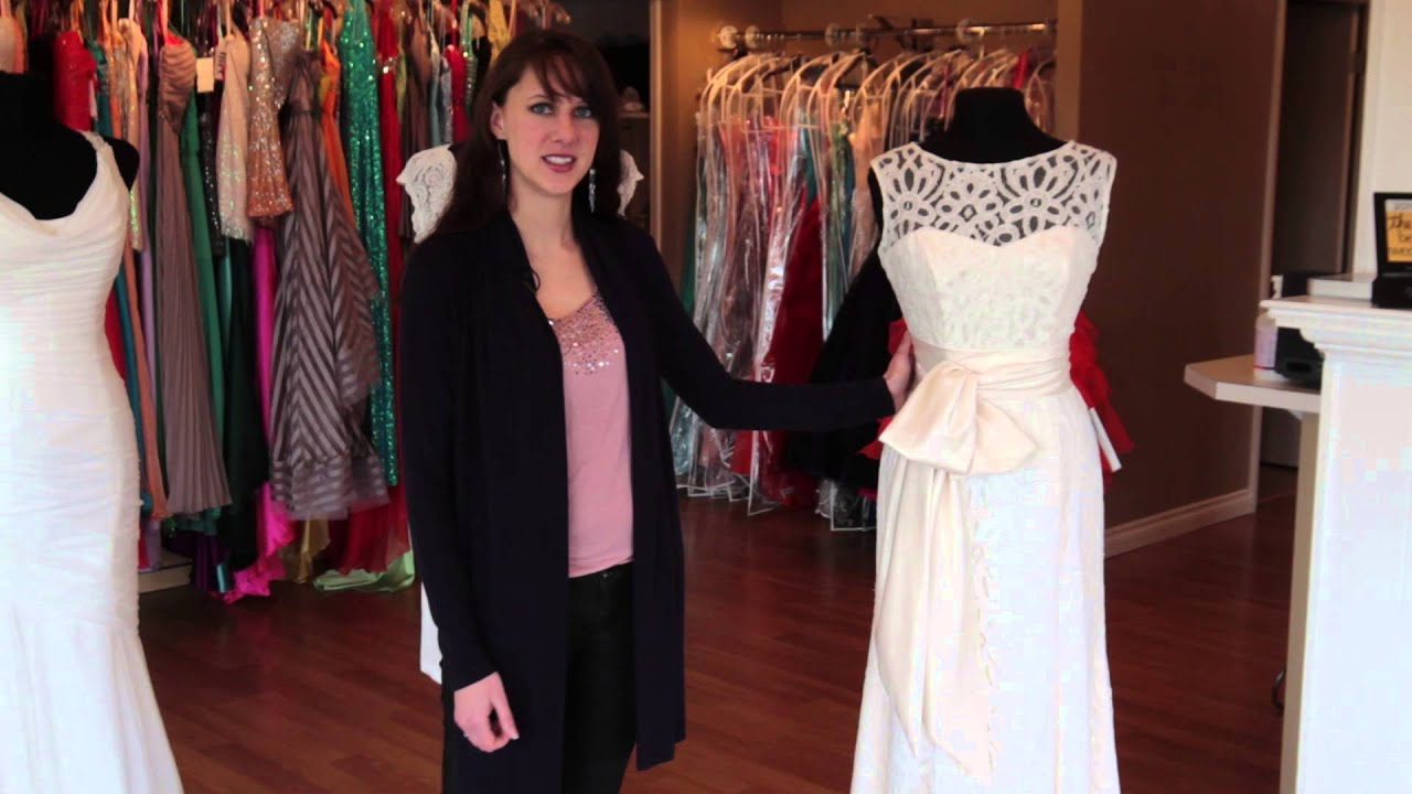 Vow Renewal and Second Wedding Dresses - YouTube