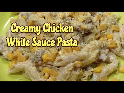 CREAMY CHICKEN WHITE SAUCE PASTA RECIPE  | Penne Pasta In White Sauce | Simple And Easy Recipe