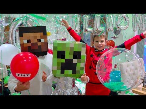 10 000 000 подписчиков Mister Max и Minecraft Party