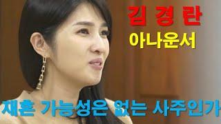 김경란 아나운서 3년만에 이혼한 사연. 재혼의 가능성은?