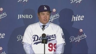 Los Angeles Dodgers unveil Hyun-Jin Ryu