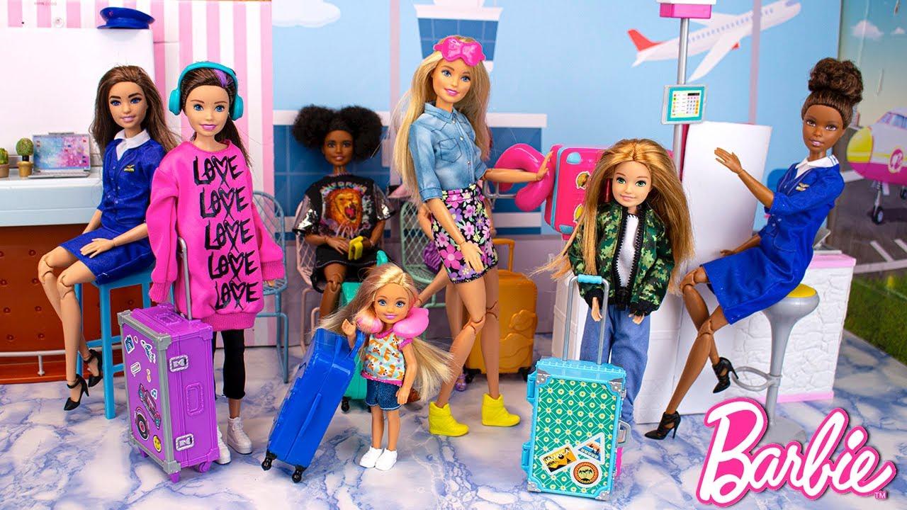 Barbie Sisters Airplane Travel Routine