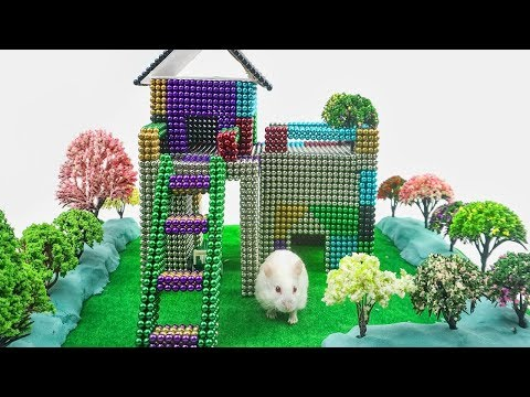 DIY How To Make Garden House for Rat with Magnetic Balls, Kinetic Sand, Mad Mattr
