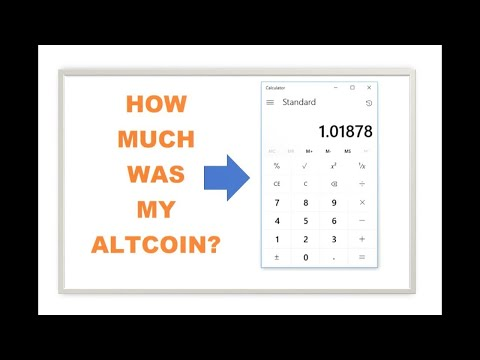 How to figure out the price of your ALTCOIN Calculator