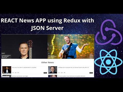 React JS News App with Redux using JSON Server | React Redux JSON Server