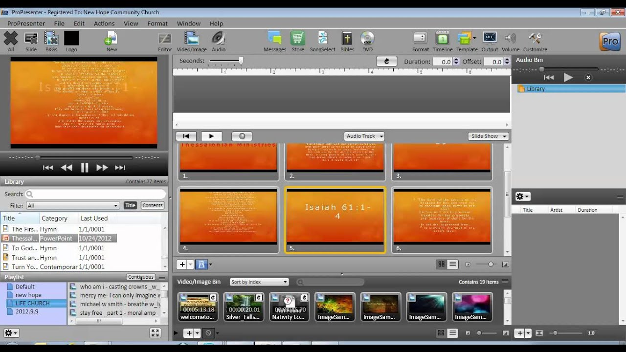 Creating A New Song In ProPresenter by Sam Newby
