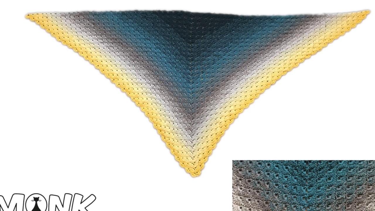 Dreieckstuch Häkeln Muschelmuster Fächermuster Youtube