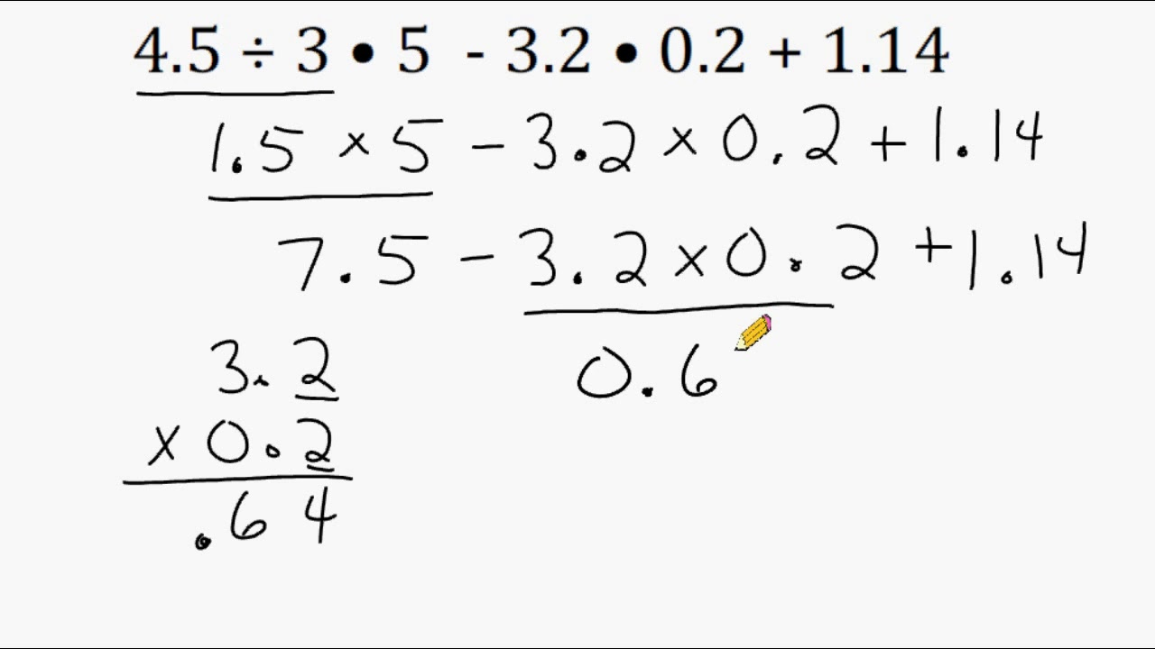 medium resolution of The Order Of Operations And Decimals - YouTube