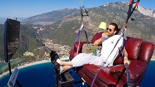 Hasan Kaval Paraglides on a Couch with No Test Flight