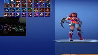 my new locker on fortnite+keyboard cam