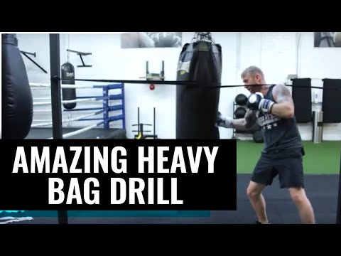 An AMAZING heavy bag drill!  SUBSCRIBE FOR MORE