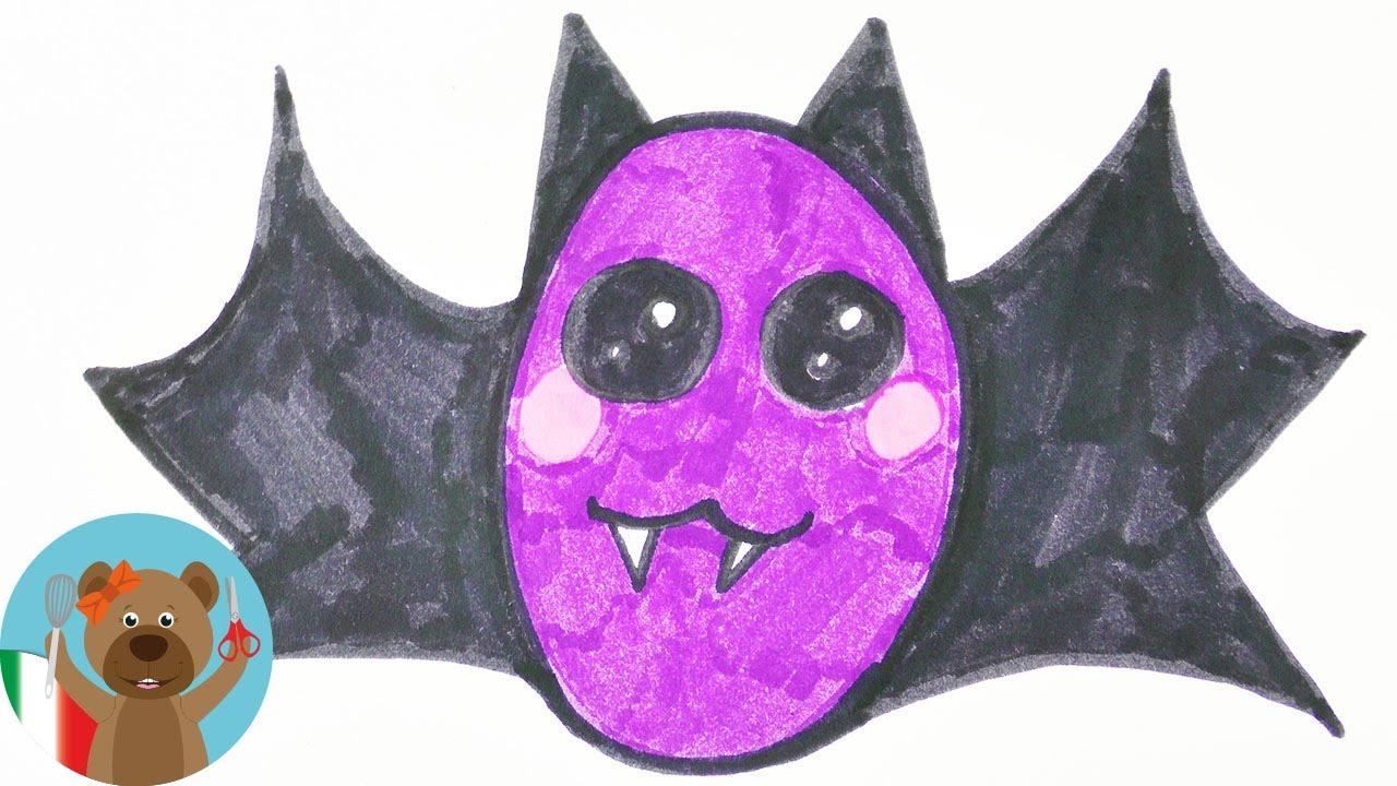 Disegnare Un Pipistrello Kawaii Halloween Fai Da Te Colorare Un Succhiasangue Con Occhioni Docili Youtube