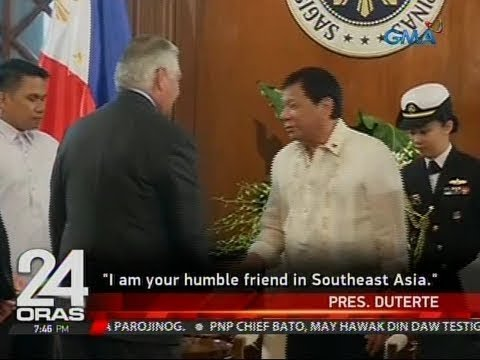 24 Oras: Pangulong Duterte at U.S. Sec. of State Rex Tillerson, nagpulong