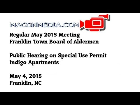 Public Hearing On Special Use Permit - Indigo Apartment Complex
