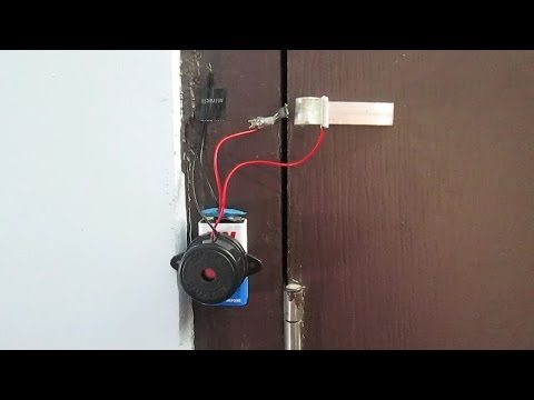 How to make a simple and reliable door alarm for home security