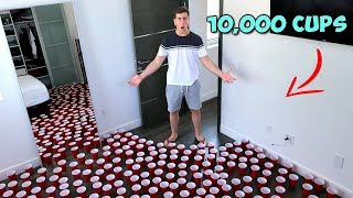 I Placed 10,000 Cups In My Bestfriend's Room!
