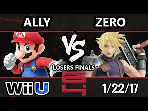 Genesis 4 Smash 4 - C9 Ally (Mario) Vs. TSM ZeRo (Diddy, Cloud) SSB4 Losers Finals - Smash Wii U