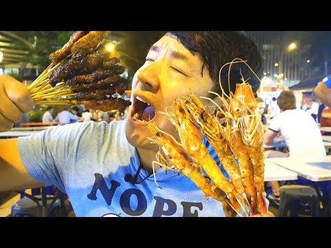 BBQ Satay Skewers & STINGRAY In Singapore