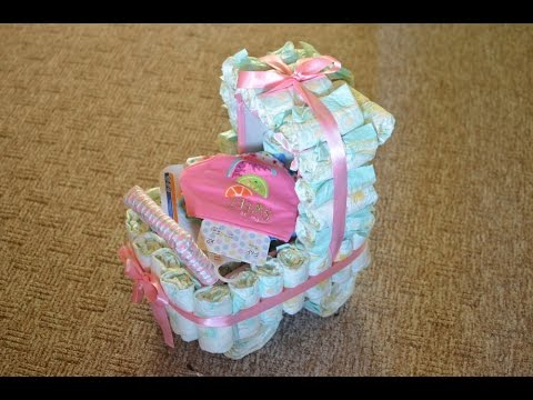 How To Make A Nappy Cake Youtube