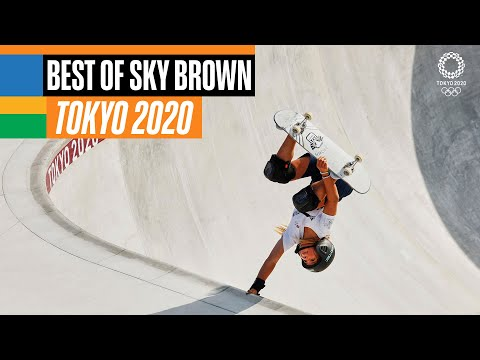The best of Sky Brown 🛹 at the Olympics!
