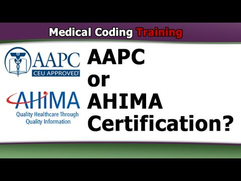 AAPC or AHIMA Certification