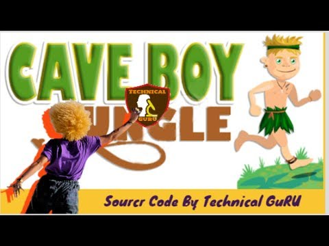 Cave Boy Jungle Game Source Code Android Studio