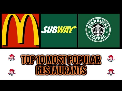 TOP 10 MOST POPULAR FAST FOOD chains in the USA